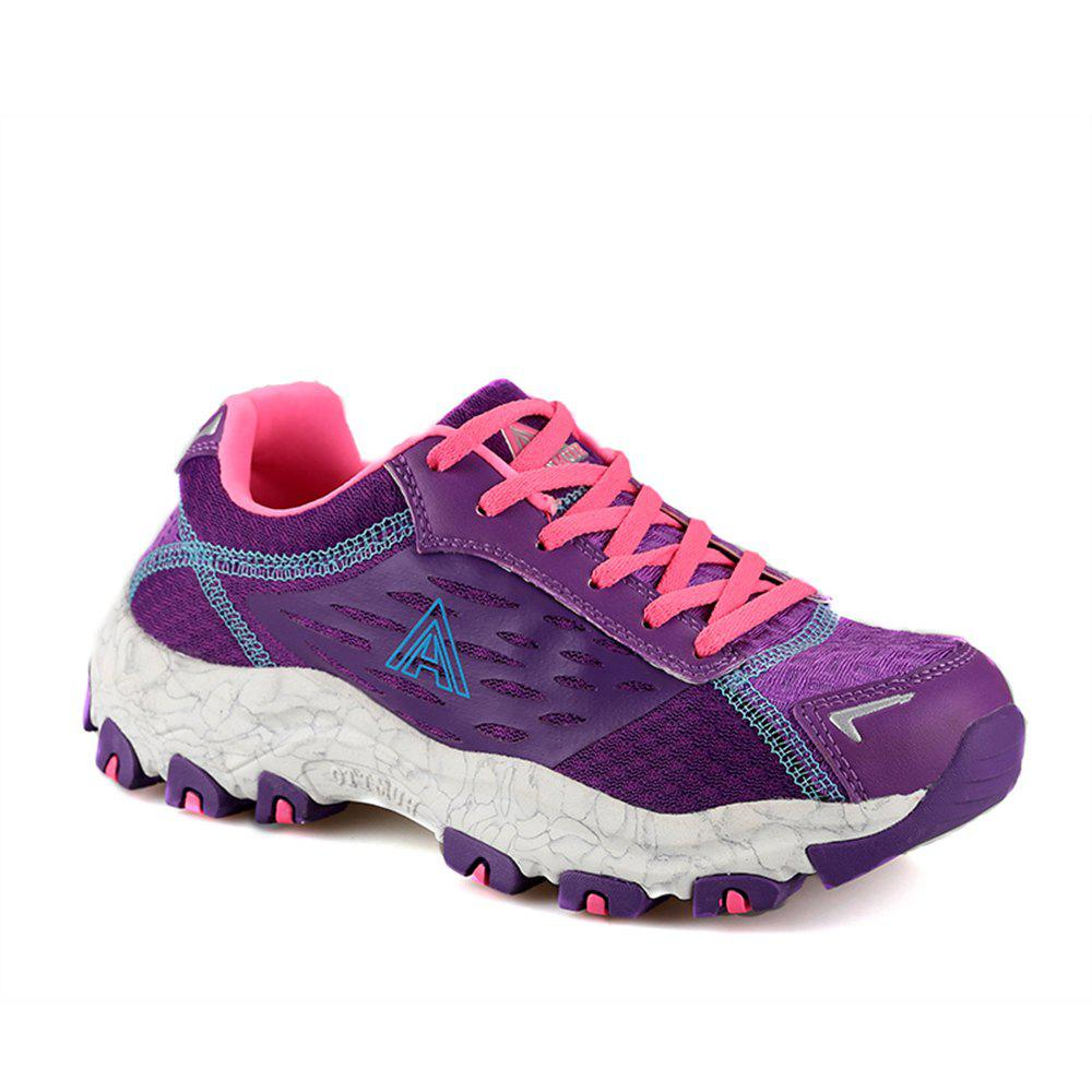 HUMTTO Women's Walking Shoes Lightweight Breathable Trekking Shoes - PURPLE 40