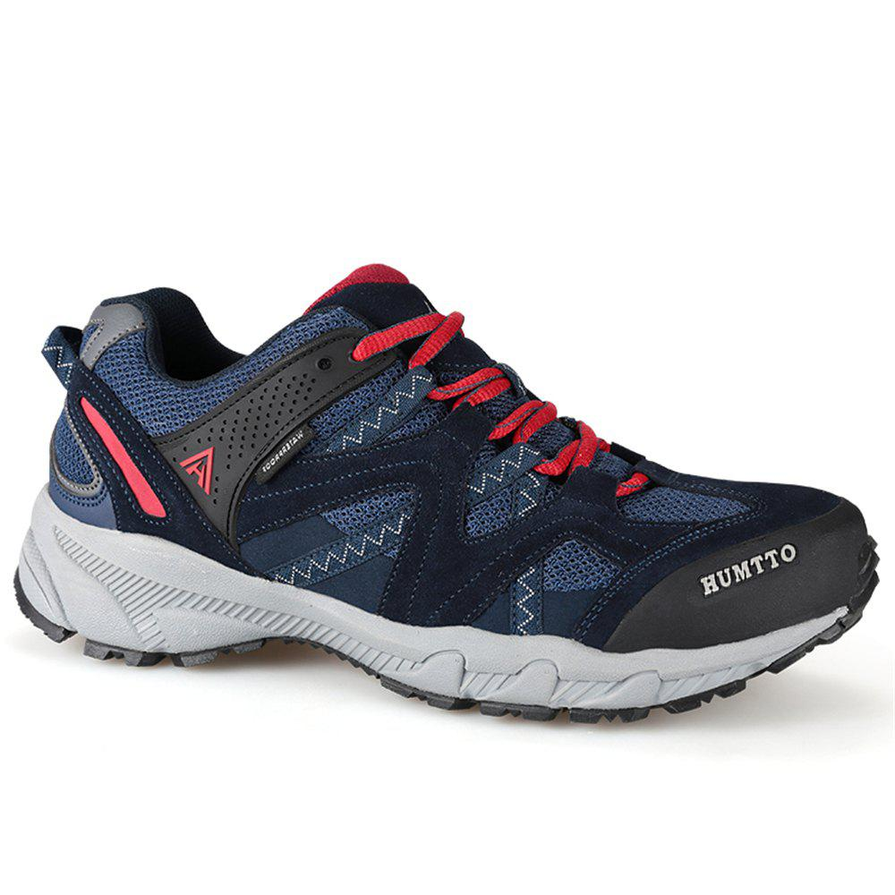 HUMTTO Outdoor Trekking Shoes Men's Climbing Walking Shoes Sneakers - DEEP BLUE 43
