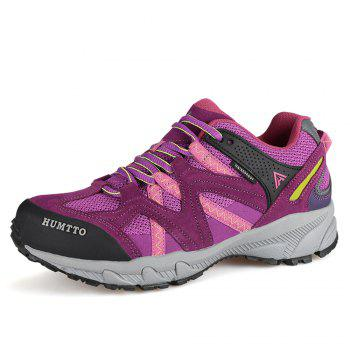 HUMTTO Outdoor Trekking Shoes Women's Climbing Walking Shoes Sneakers - PURPLE 37