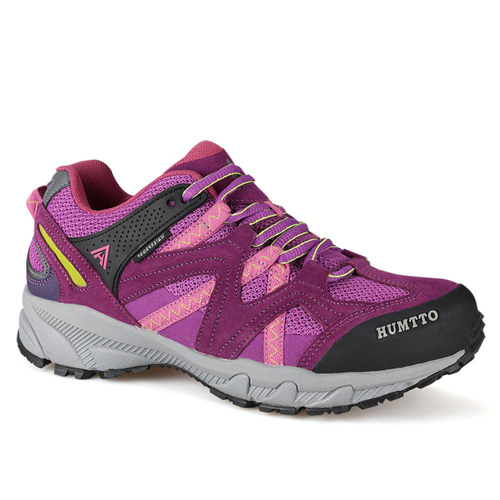 HUMTTO Outdoor Trekking Shoes Women's Climbing Walking Shoes Sneakers - PURPLE 39