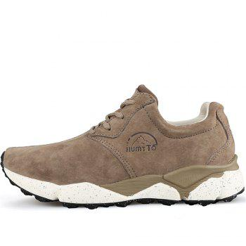 HUMTTO Women Running Shoes Cushioning Light Leather Breathable Sneakers - CAMEL 40
