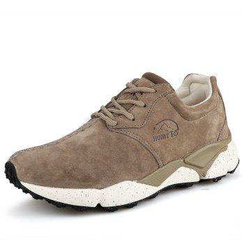 HUMTTO Women Running Shoes Cushioning Light Leather Breathable Sneakers - CAMEL 37