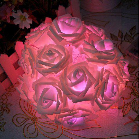 BRELONG LED Rose  String Lights Holiday party Christmas decoration lights 20LED - PINK