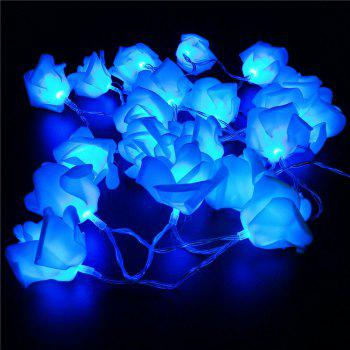 BRELONG LED Rose  String Lights Holiday party Christmas decoration lights 20LED - BLUE
