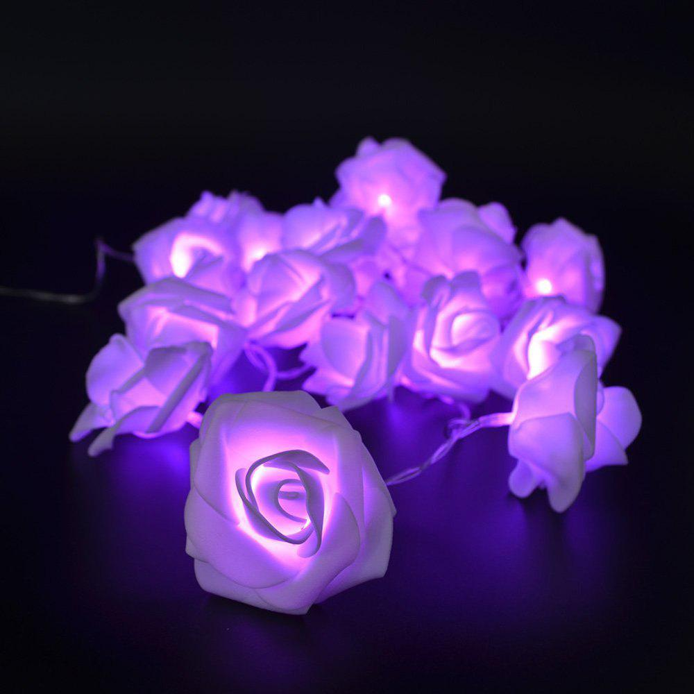 BRELONG LED Rose  String Lights Holiday party Christmas decoration lights 20LED - PURPLE