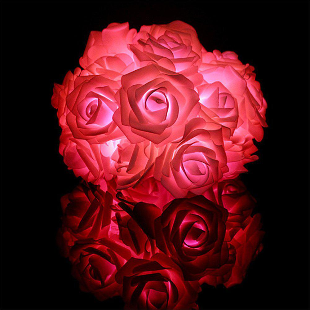BRELONG LED Rose  String Lights Holiday party Christmas decoration lights 20LED - RED