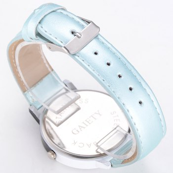 GAIETY Women Two Tone Dial Leather Strap Dress Watch G519 -  SKY BLUE