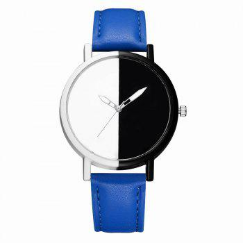 GAIETY Women Two Tone Dial Leather Strap Dress Watch G519 - BLUE BLUE