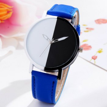 GAIETY Women Two Tone Dial Leather Strap Dress Watch G519 - BLUE