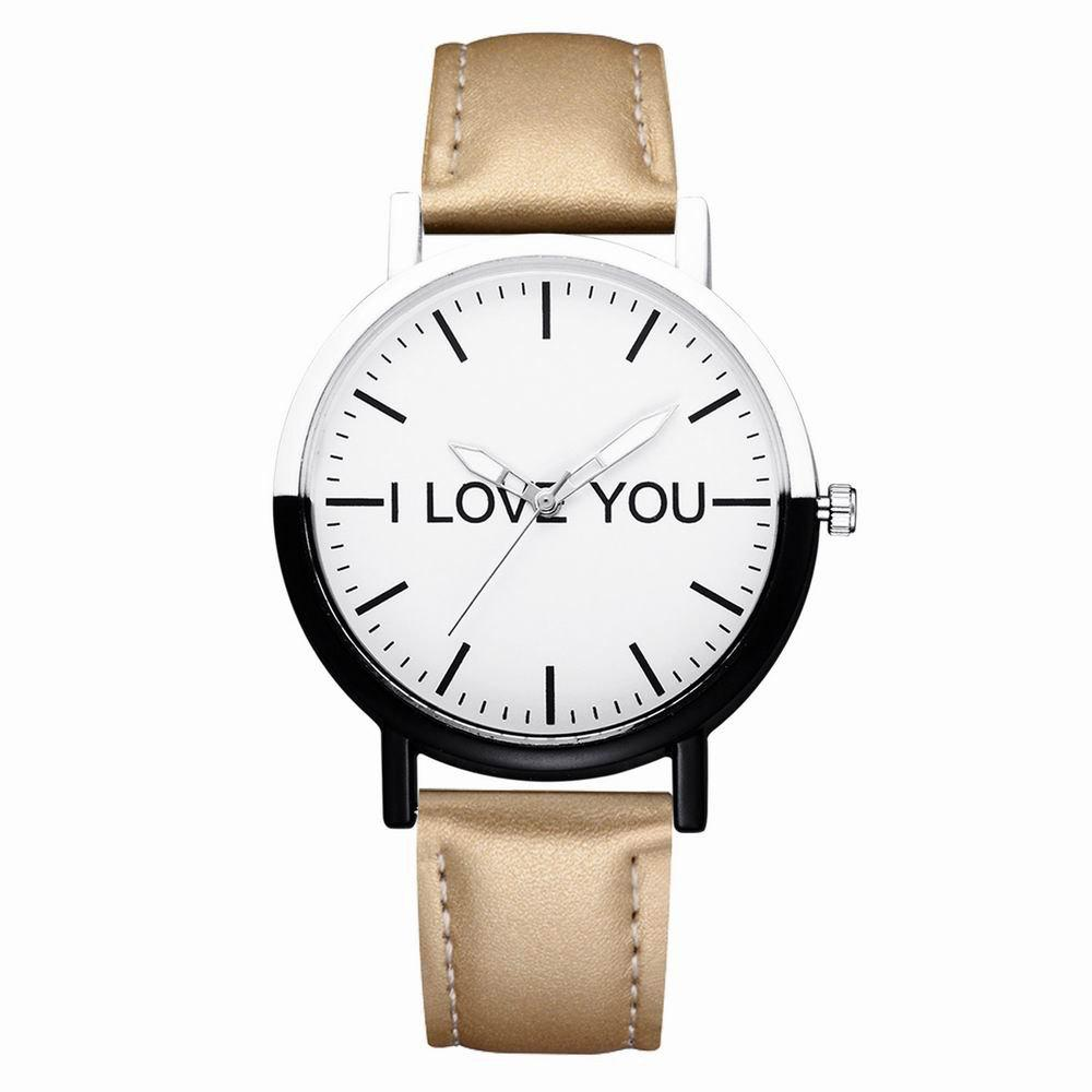GAIETY Women's Black and White Bezel Letters Dial Wrist Watch G517