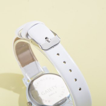 GAIETY G480 Women Casual Leather Band Analog Quartz Wrist Watch - WHITE