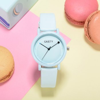 GAIETY G480 Women Casual Leather Band Analog Quartz Wrist Watch -  SKYBLUE
