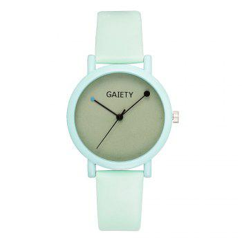GAIETY G480 Women Casual Leather Band Analog Quartz Wrist Watch - GREEN GREEN