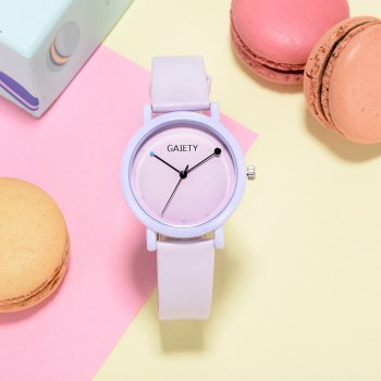 GAIETY G480 Women Casual Leather Band Analog Quartz Wrist Watch - PURPLE