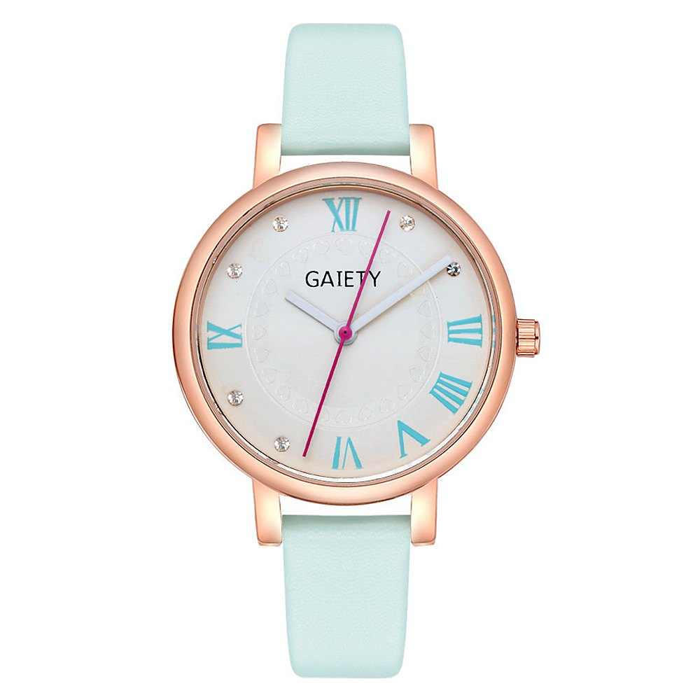 GAIETY G481 Ladies Fashion Leather Quartz Watch - SKYBLUE