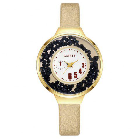 GAIETY G482 Ladies Quicksand Fashion Quartz Watch - GOLDEN