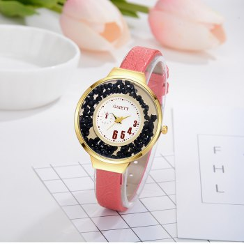 GAIETY G482 Ladies Quicksand Fashion Quartz Watch - RED