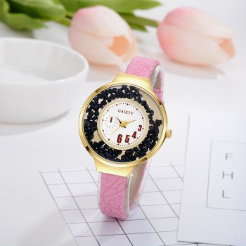GAIETY G482 Ladies Quicksand Fashion Quartz Watch - PINK