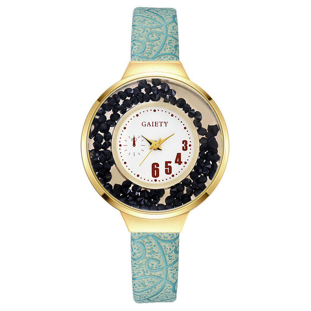 GAIETY G482 Ladies Quicksand Fashion Quartz Watch - SKYBLUE