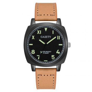 GAIETY G483 Men's Fashion Movement Quartz Watch - BEIGE BEIGE