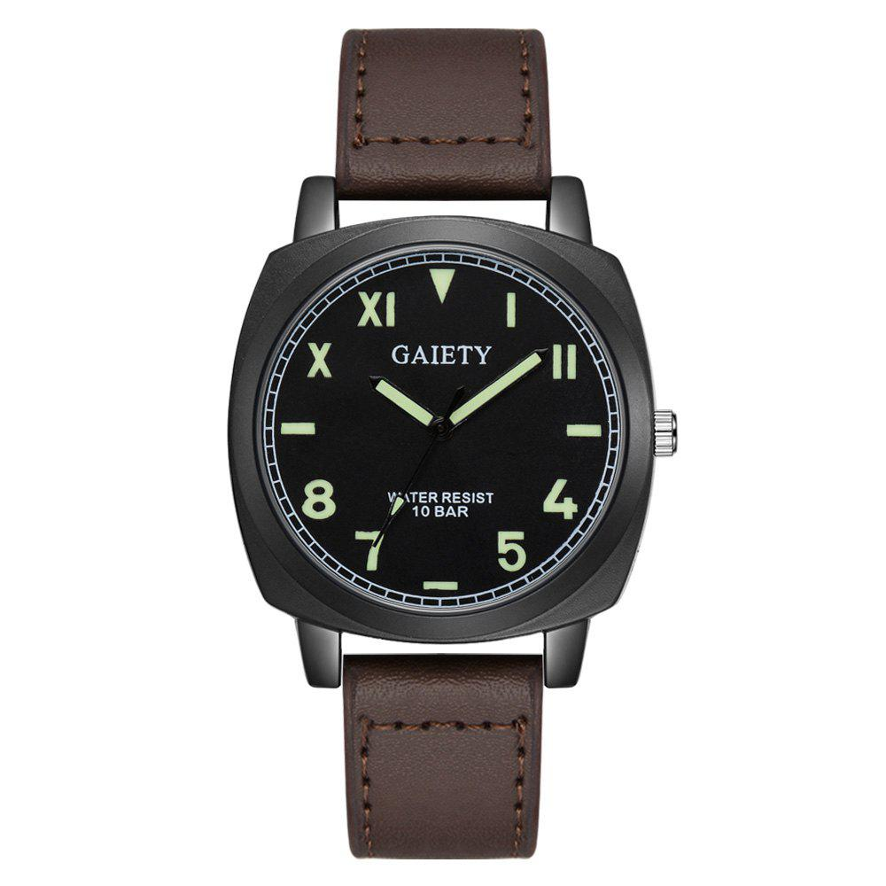 GAIETY G483 Men's Fashion Movement Quartz Watch - BROWN