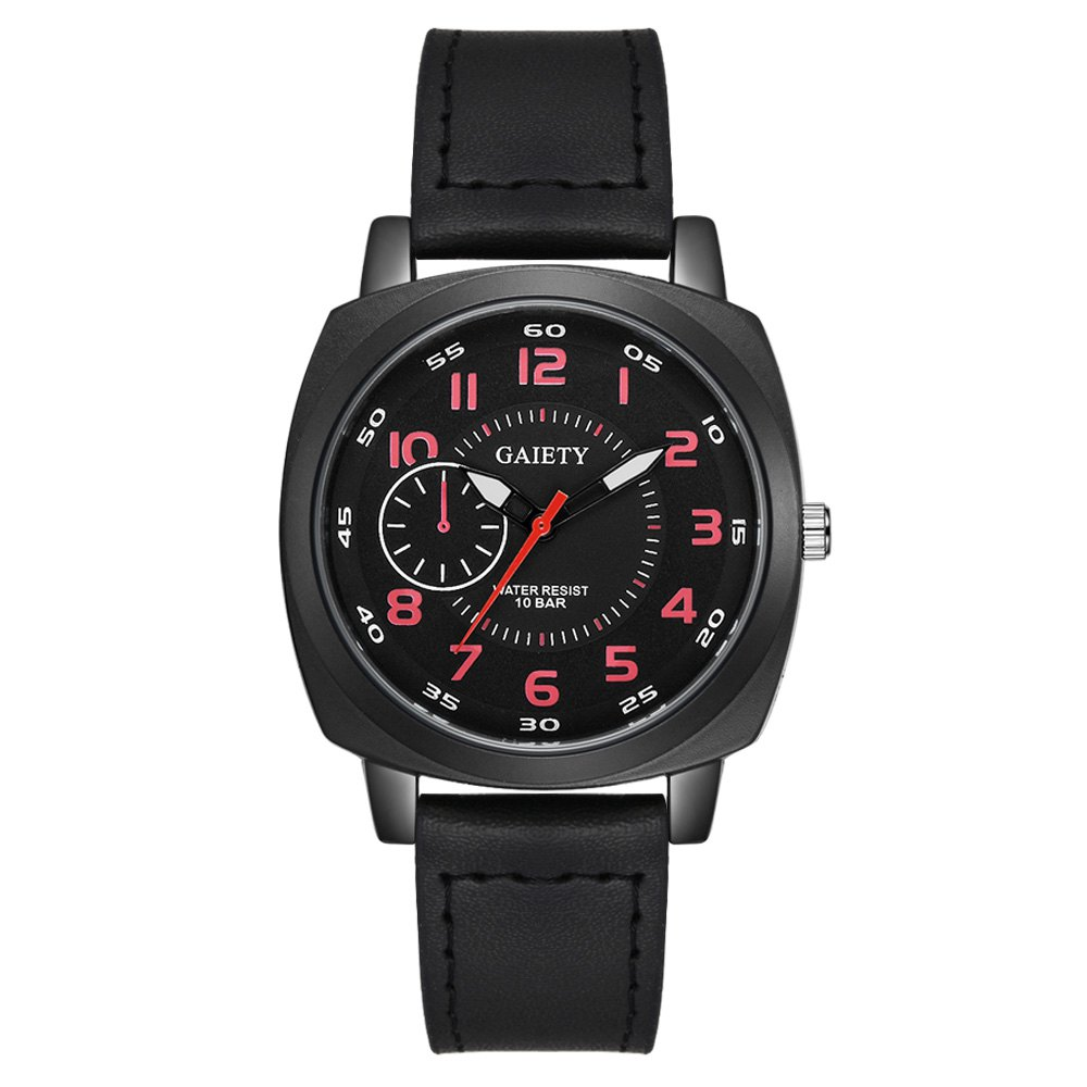GAIETY G485 Men's Sports Fashion Watch - BLACK