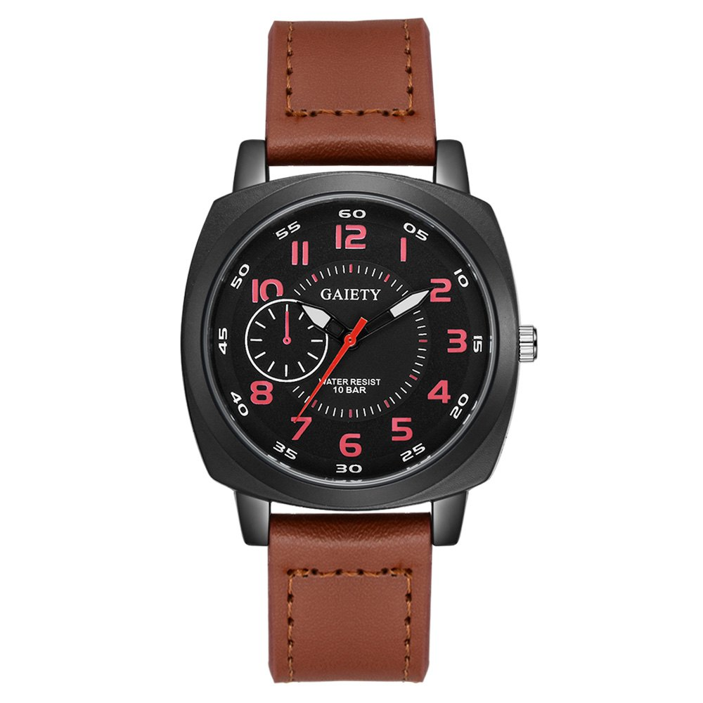 GAIETY G485 Men's Sports Fashion Watch - COFFEE