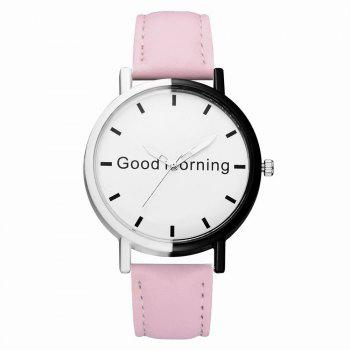 GAIETY Women's Two Tone Letters Dial Quartz Watch G514 - PINK PINK