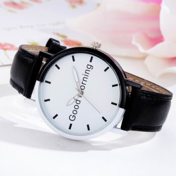GAIETY Women's Two Tone Letters Dial Quartz Watch G514 -  BLACK