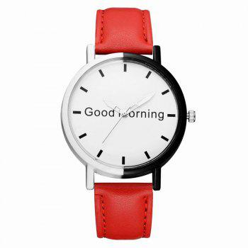 GAIETY Women's Two Tone Letters Dial Quartz Watch G514 - RED RED