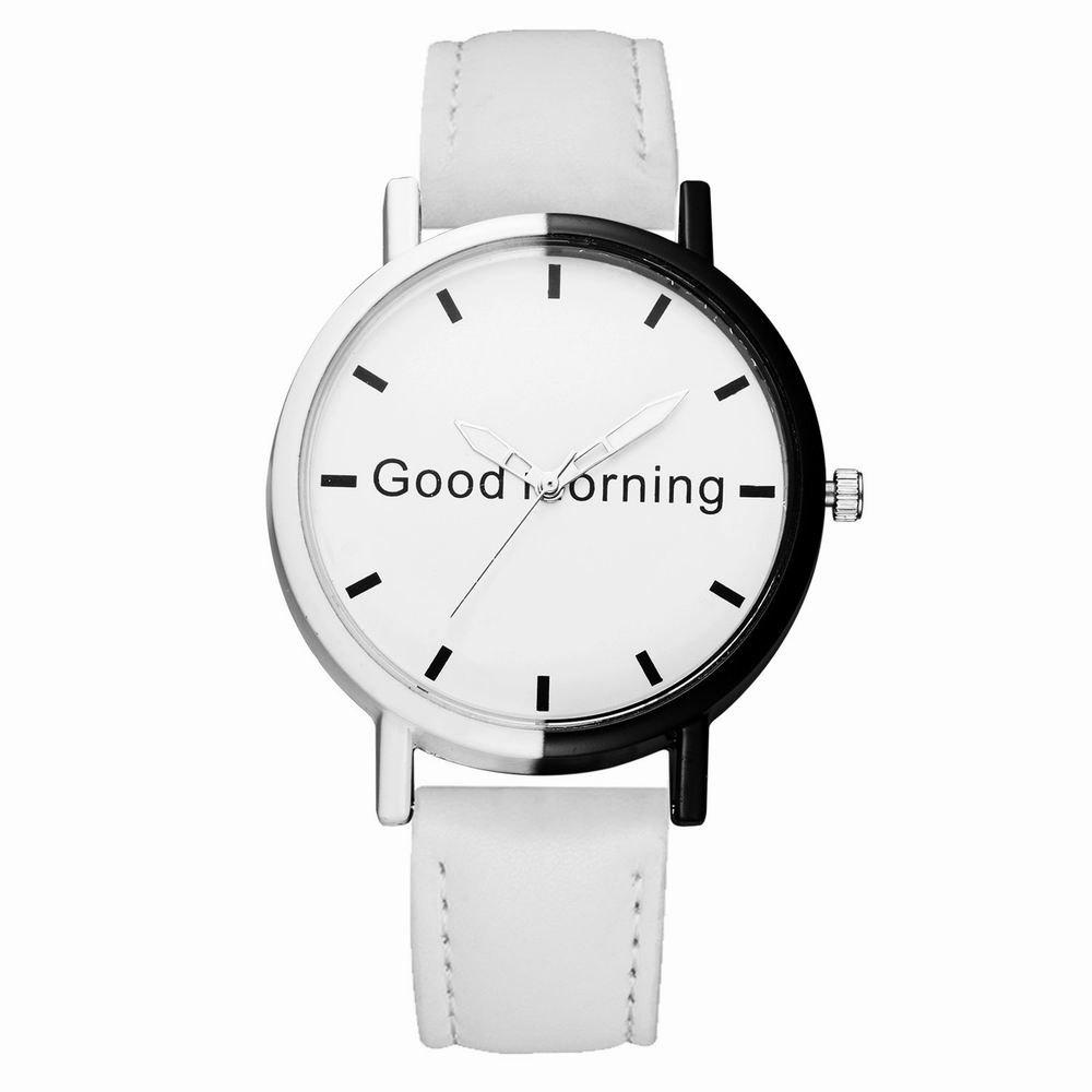 GAIETY Women's Two Tone Letters Dial Quartz Watch G514 - WHITE