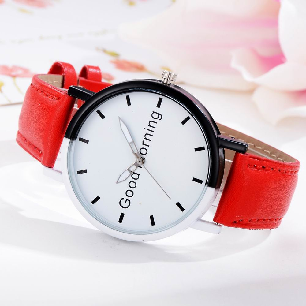 GAIETY Women's Two Tone Letters Dial Quartz Watch G514 - RED
