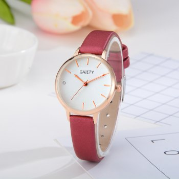 GAIETY G487 Ladies Fashion Candy Color Watch -  RED