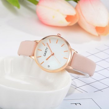 GAIETY G487 Ladies Fashion Candy Color Watch -  BEIGE
