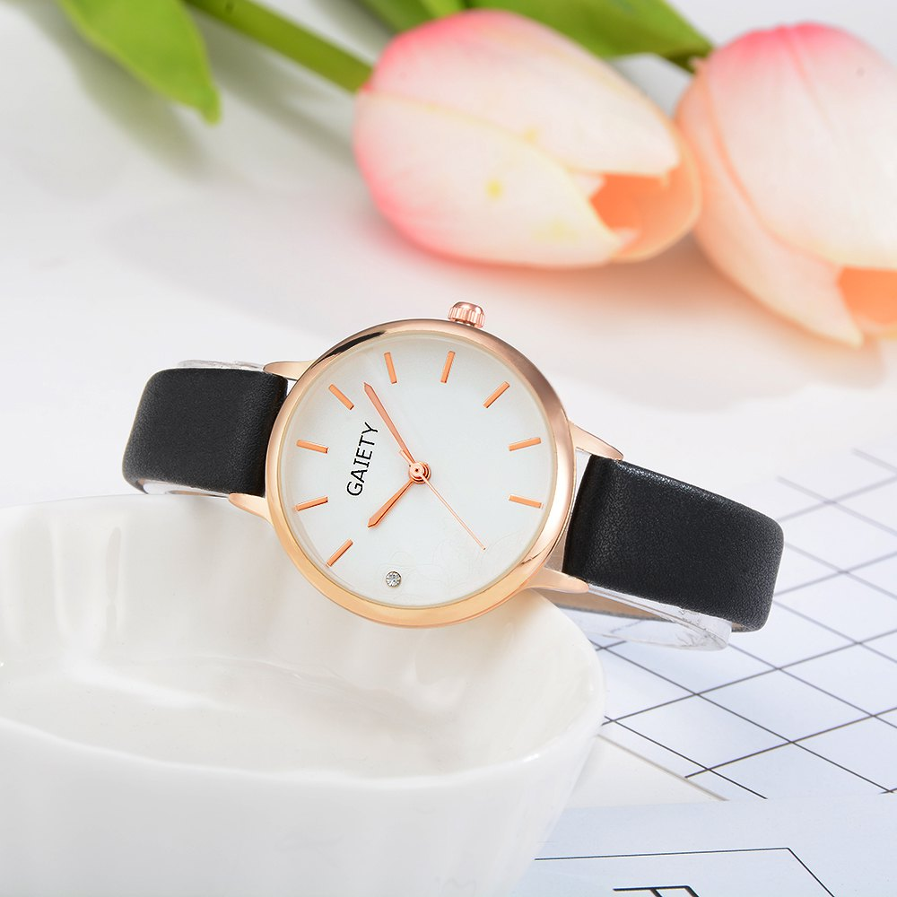 GAIETY G487 Ladies Fashion Candy Color Watch - BLACK