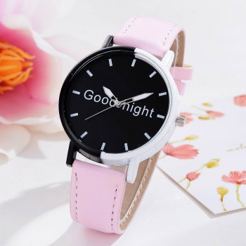 GAIETY Women's Black Dial Two Tone Bezel Leather Band Quartz Watch G513 - PINK PINK