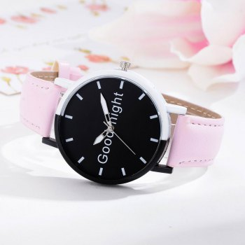 GAIETY Women's Black Dial Two Tone Bezel Leather Band Quartz Watch G513 - PINK