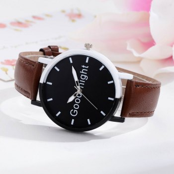 GAIETY Women's Black Dial Two Tone Bezel Leather Band Quartz Watch G513 - COFFEE