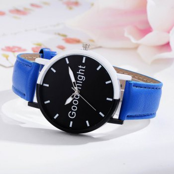 GAIETY Women's Black Dial Two Tone Bezel Leather Band Quartz Watch G513 - BLUE