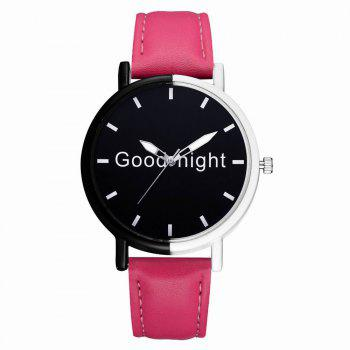 GAIETY Women's Black Dial Two Tone Bezel Leather Band Quartz Watch G513 - ROSE RED ROSE RED