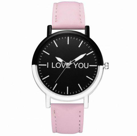GAIETY Women's Two Tone Bezel Leather Strap Wrist Watches G505 - PINK
