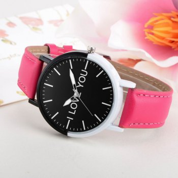 GAIETY Women's Two Tone Bezel Leather Strap Wrist Watches G505 - ROSE RED