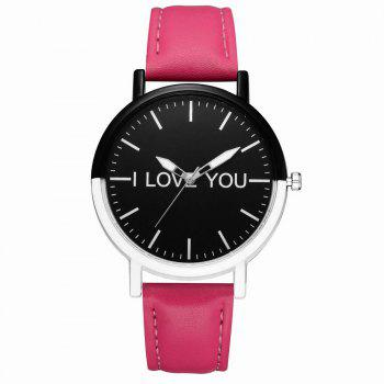 GAIETY Women's Two Tone Bezel Leather Strap Wrist Watches G505 - ROSE RED ROSE RED