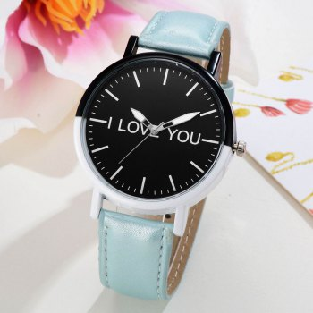 GAIETY Women's Two Tone Bezel Leather Strap Wrist Watches G505 -  SKY BLUE