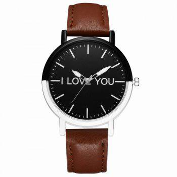 GAIETY Women's Two Tone Bezel Leather Strap Wrist Watches G505 - COFFEE COFFEE