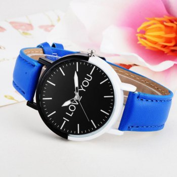 GAIETY Women's Two Tone Bezel Leather Strap Wrist Watches G505 -  BLUE