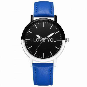 GAIETY Women's Two Tone Bezel Leather Strap Wrist Watches G505 - BLUE BLUE