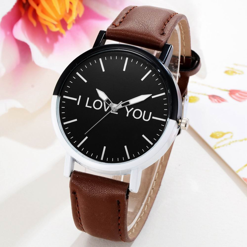 GAIETY Women's Two Tone Bezel Leather Strap Wrist Watches G505 - COFFEE