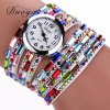 DUOYA D011 Women Colorful Rhinestones Quartz Bracelet Wrist Watch - COLOR
