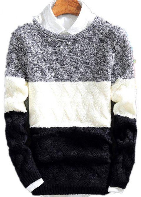 Young Men'S Casual Lounge Sweaters - BLACK XL